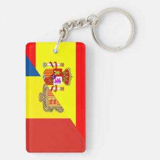 Llavero medio símbolo del país de la bandera de España