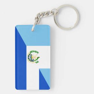 Llavero medio símbolo del país de la bandera de Guatemala