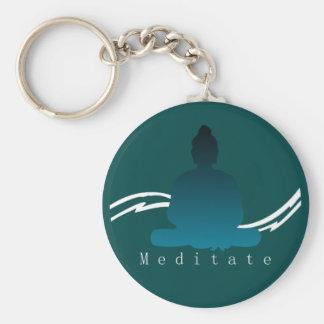 """Llavero """"Meditate"""" Buda hermoso"""