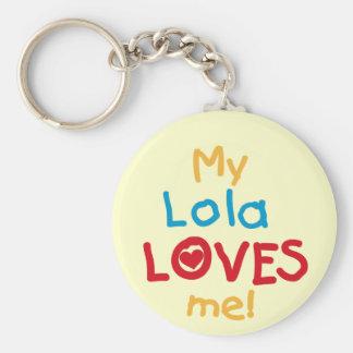 Llavero Mi Lola me ama las camisetas y los regalos