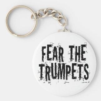 Llavero Miedo divertido el regalo de las trompetas