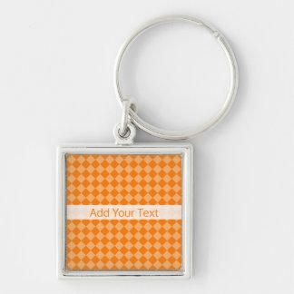 Llavero Modelo anaranjado del diamante de la combinación
