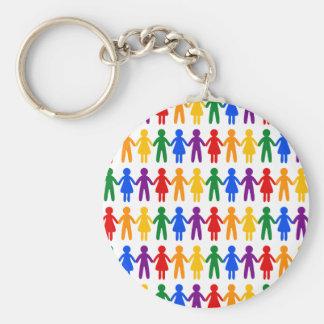 Llavero Modelo de la gente del arco iris
