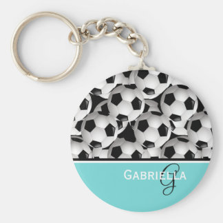Llavero Modelo del balón de fútbol del negro de la