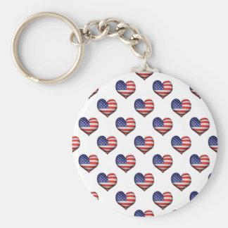 Llavero Modelo en forma de corazón de la bandera del