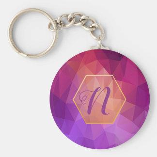 Llavero Modelo gráfico violeta y púrpura de encargo
