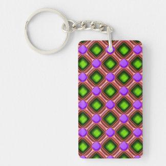 Llavero Modelo púrpura de la gema