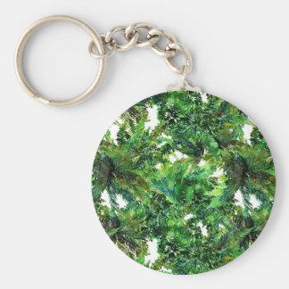 Llavero Modelo verde de la caída del bosque del helecho de