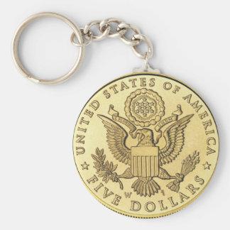 Llavero Moneda de oro