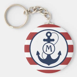 Red Nautical Anchor Monogram