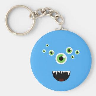 Llavero Monstruo azul lindo loco divertido único