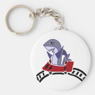 Llavero Montar a caballo del tiburón de la diversión en la