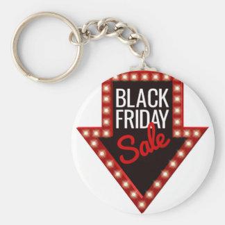 Llavero Muestra negra de la flecha de la venta de viernes