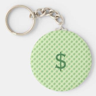 Llavero Muestras de dólar en verde