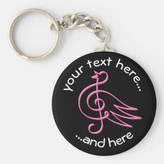 Llavero Música rosada del pájaro