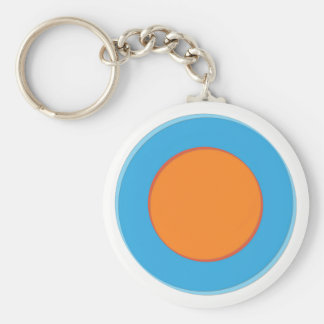 Llavero Naranja en puntos azules