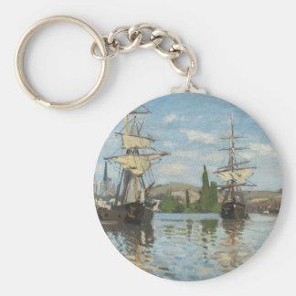 Llavero Naves de Claude Monet que montan en el Sena en