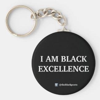 Llavero negro de la excelencia