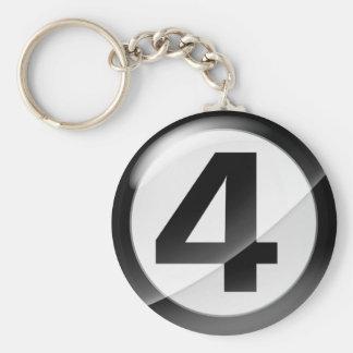 Llavero negro del número 4