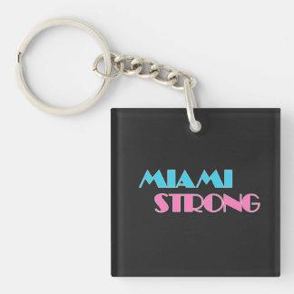Llavero negro fuerte de Miami