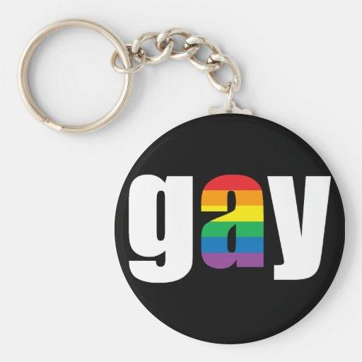 Llavero negro gay
