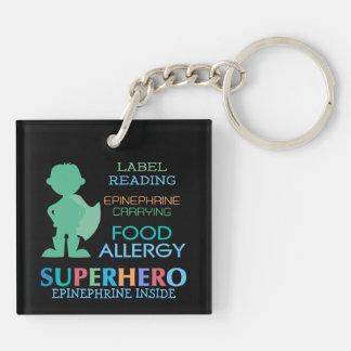 Llavero Niños personalizados super héroe del muchacho de