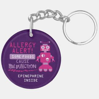 Llavero Niños rosados de la alarma de la alergia