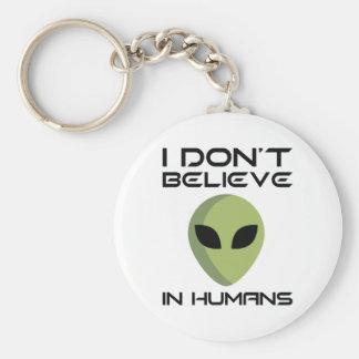 Llavero No creo en seres humanos