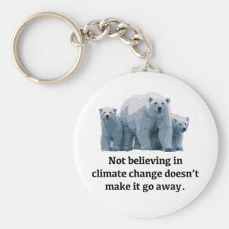 Llavero No creyendo en cambio de clima