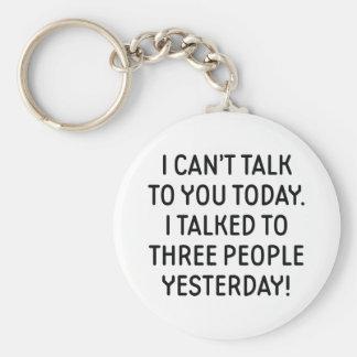 Llavero No puedo hablar con usted hoy
