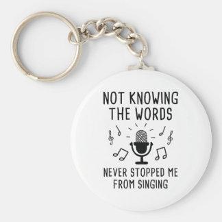 Llavero No saber las palabras