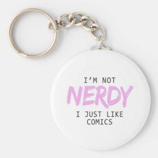 Llavero No soy I Nerdy apenas como la impresión de los
