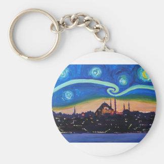 Llavero Noche estrellada en Estambul Turquía