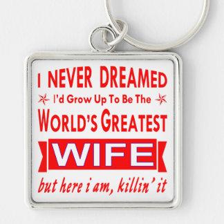 Llavero Nunca soñado sería la esposa más grande del mundo
