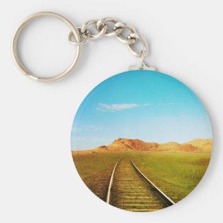 Llavero Paisaje ferroviario de la naturaleza del tren