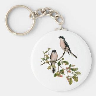 Llavero Pájaros bonitos del vintage en una rama