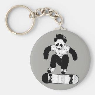 Llavero Panda que anda en monopatín