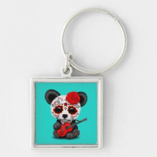 Llavero Panda roja del cráneo del azúcar que toca la