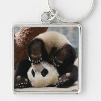 Llavero Pandas del bebé que juegan - panda linda de la