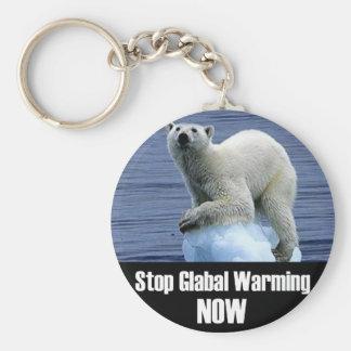 Llavero Pare el calentamiento del planeta ahora