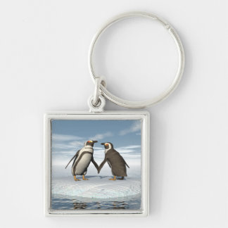 Llavero Pares de los pingüinos