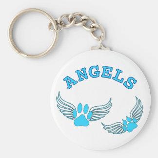 Llavero Patas del mascota del ángel en azul