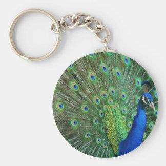 Llavero Pavo real azulverde