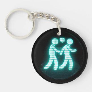 Llavero peatonal gay de la señal (de acrílico)