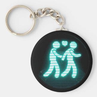Llavero peatonal gay de la señal (estilo del