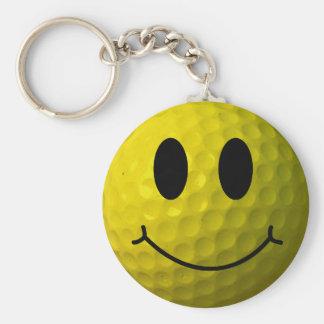 Llavero Pelota de golf sonriente de la cara