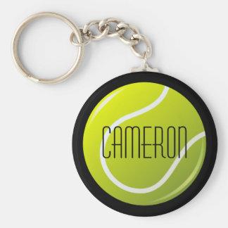 Llavero Pelota de tenis en nombre personalizado fondo