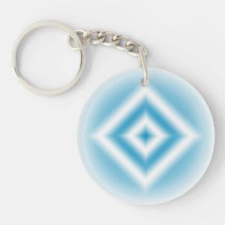 Llavero pendiente azul del diamante del Personalizar-cielo