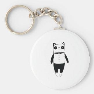 Llavero Pequeña panda blanco y negro