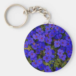 Llavero Pequeñas flores azules